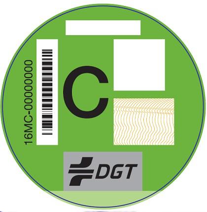Etiqueta Ambiental C Verde para turismos y comerciales ligeros, clasificados en el Registro de Vehículos como gasolina EURO 4/IV, 5/V o 6/VI o diésel EURO 6/VI. Vehículos de más de 8 plazas y transporte de mercancías, clasificados en el Registro de Vehículos con nivel de emisiones del vehículos sea EURO 6/VI, indistintamente del tipo de combustible. Vehículos ligeros (categoría L), clasificados en el Registro de Vehículos con nivel de emisiones del vehículos Euro III/3 o Euro IV/4.