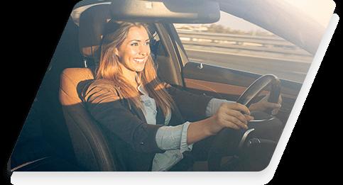 Chica conduciendo permiso tipo B
