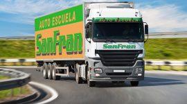 Camión permiso tipo C+E de Autoescuela SanFran
